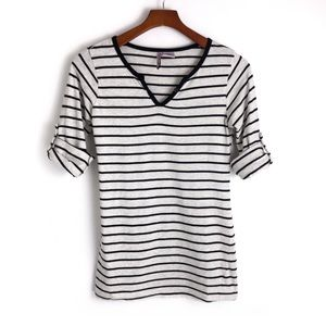 Mom's the Word Maternity . Striped Tee